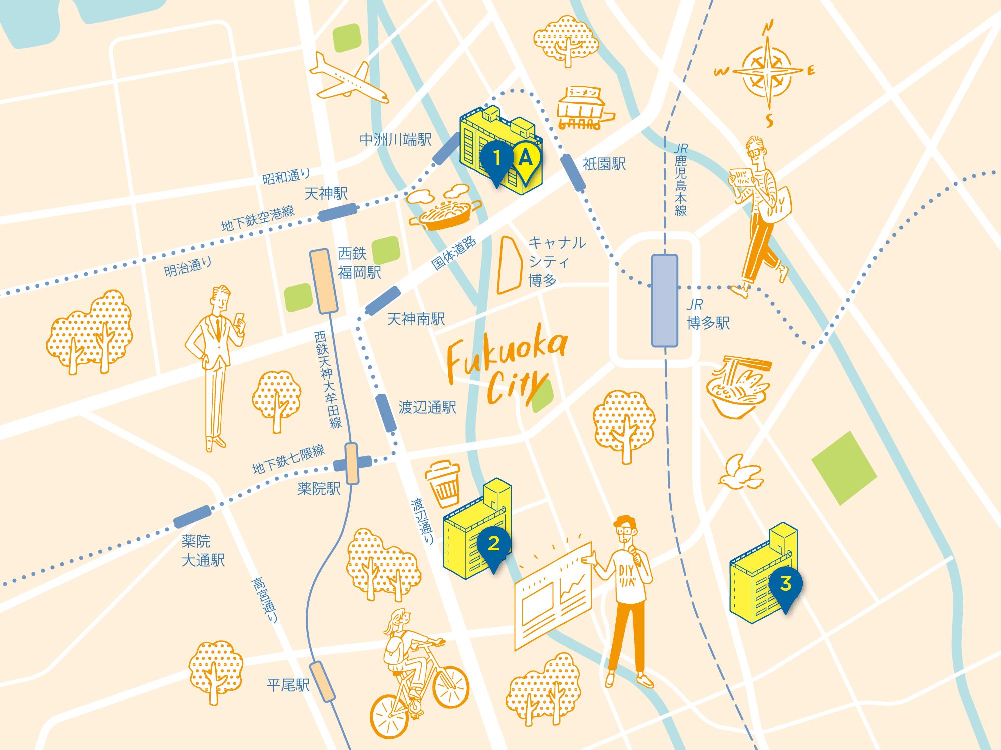 福岡市エリアマップ