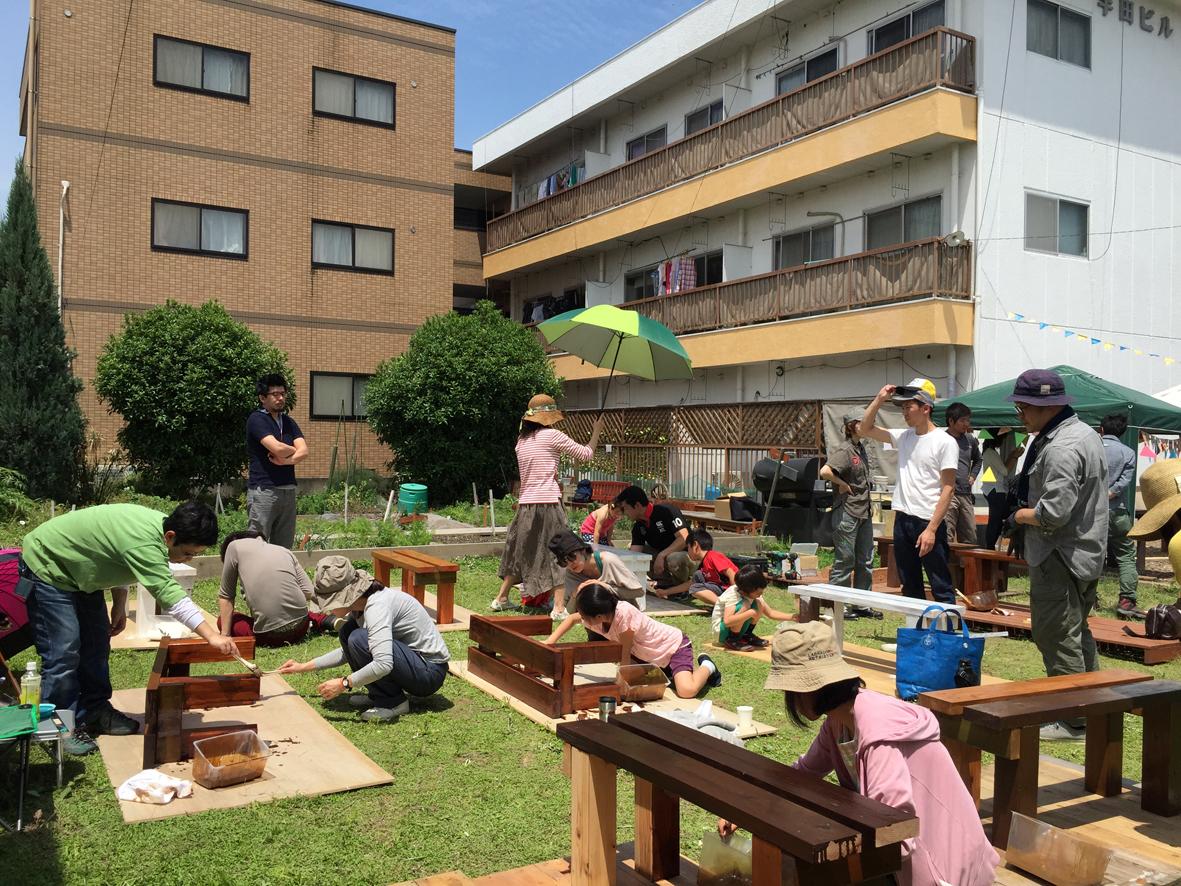 ガーデンファニチャー作りワークショップのイメージ